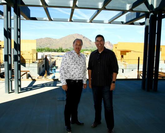 Jerry Ayoub (president of Five Star Development) and Town of Paradise Valley Mayor Jerry Bien-Willner