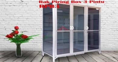 rak piring box alumunium 3 pintu harga murah