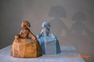 Cement Design Felipao Meninas Cemento Decorativo