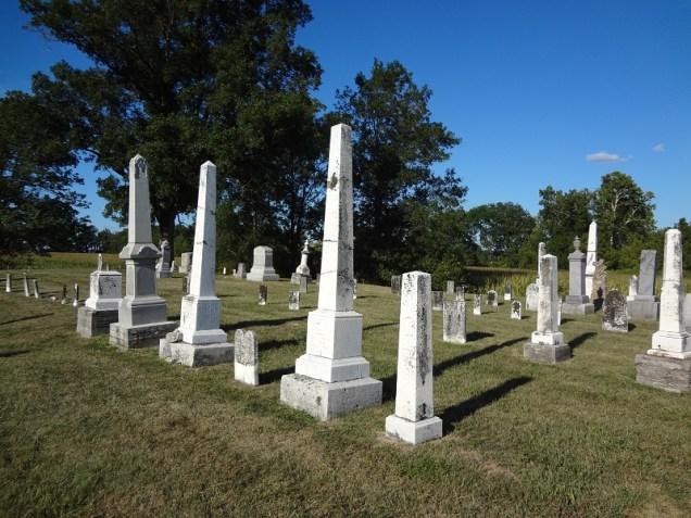 A view of Wesley Cemetery