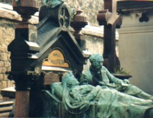 Closeup of the Pigeon family monument