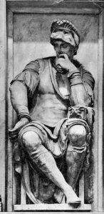 Detail of the tomb of Lorenzo, Duke of Urbino