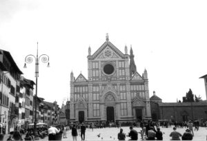 The exterior of the Basilica and its plaza.