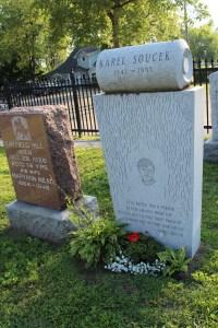 Daredevil Karel Soucek's gravestone