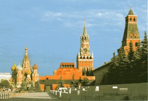 A view of Red Square.  For scale, note the tourists clustered on the left.