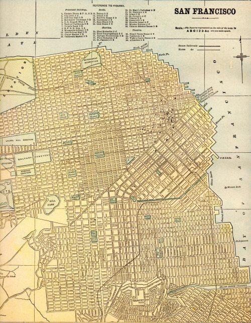 Map of San Francisco, 1930