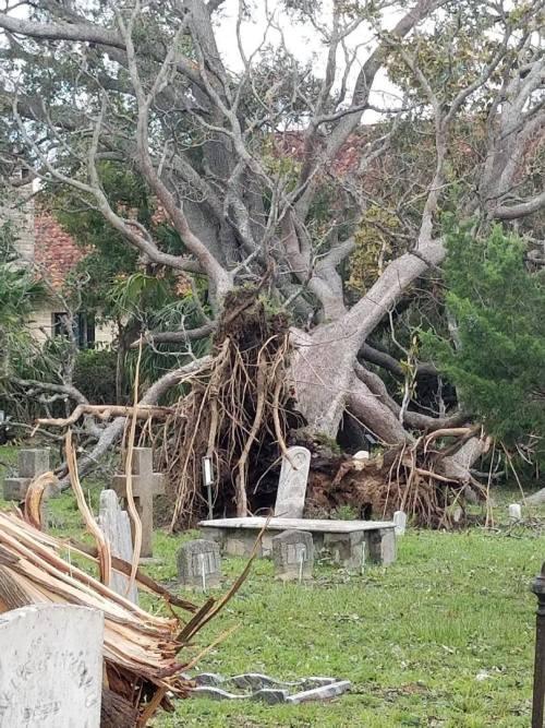 Huguenot hurricane damage