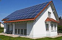 Bygg med solcellepaneler