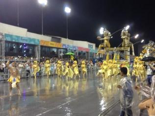 Comissão de frente do Rosas de Ouro no Desfile das Campeãs (2017) - Foto de Cassius S. Abreu
