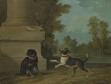 Jean-Baptiste Oudry, Dva pejskové, 1754