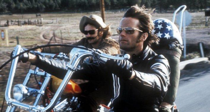Peter Fonda e Dennis Hopper em Sem Destino (1969)
