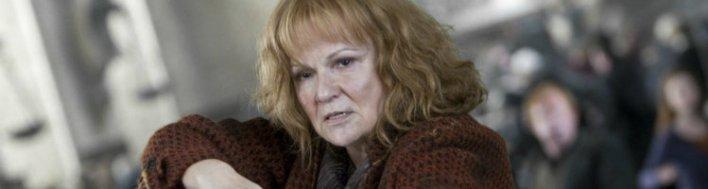 Julie Walters, a Molly Weasley da franquia Harry Potter. Porque mães também podem ser mágicas