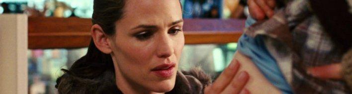 Jennifer Garner em Juno. Mostrando que mães são mães mesmo que não gerem seus filhos
