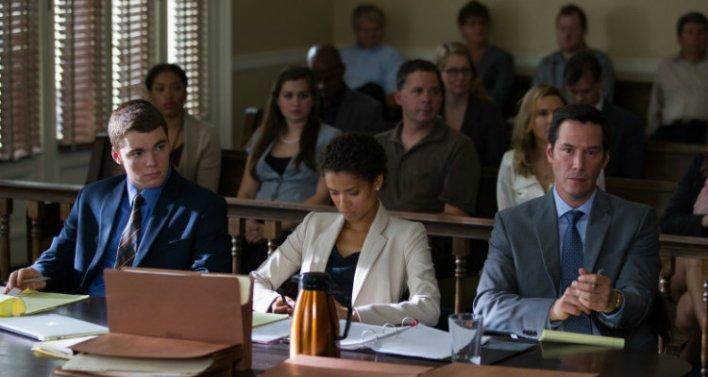 Mike Lassiter, Gugu Mbatha-Raw e Keanu Reeves em Versões de um Crime (The Whole Truth, 2016)