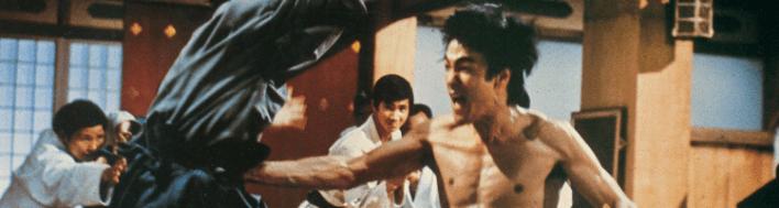 Falar em filmes de luta é falar em Bruce Lee, aqui com A Fúria do Dragão (1972)