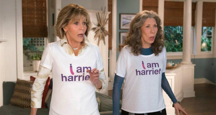 Jane Fonda e Lily Tomlin em Grace e Frankie