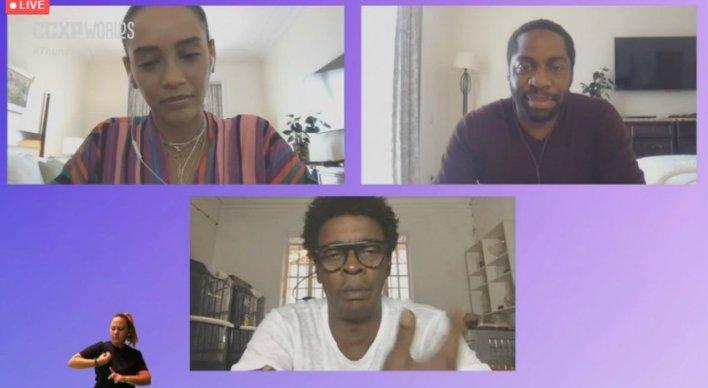 CCXP Worlds: Thaís Araújo, Lázaro Ramos e Seu Jorge falam sobre o filme Medida Provisória da Globo Filmes