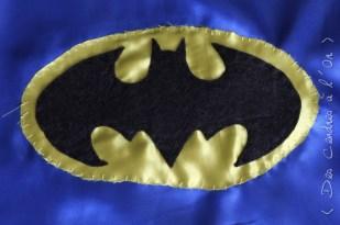 cape logo batman cousu