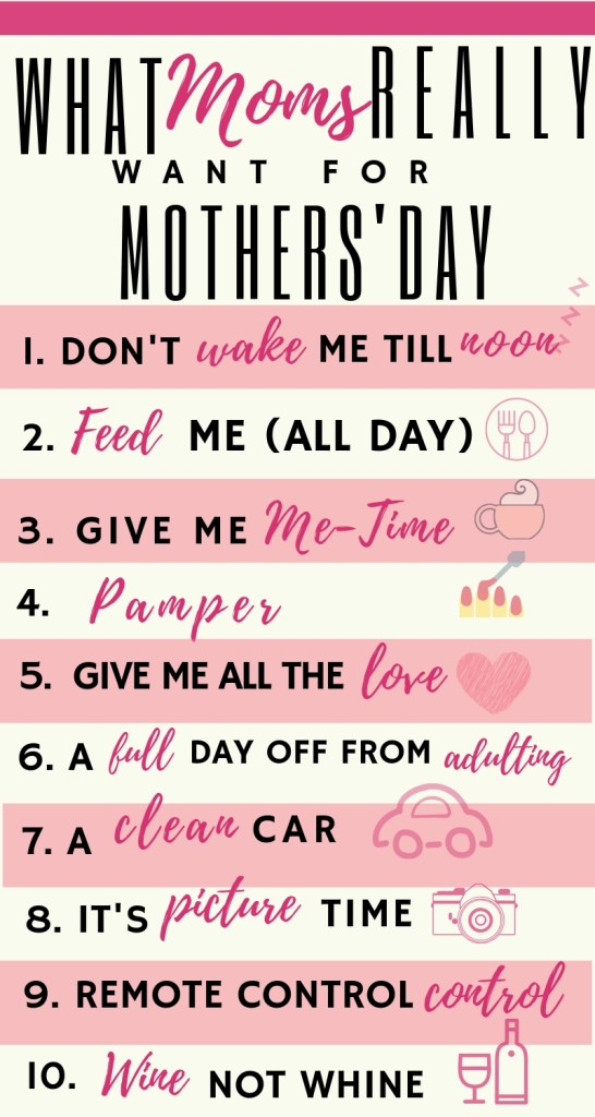 What Mother's Really Want for Mother's Day