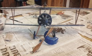 Nieuport 17 front view (painted, minus prop/nose cowl)