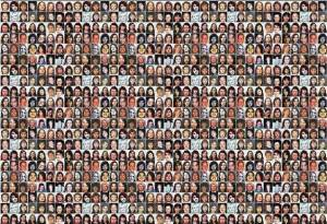 Missing women mosaic poster from the families of missing women.