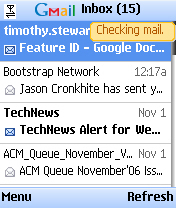 GMail Mobile Screenshot2