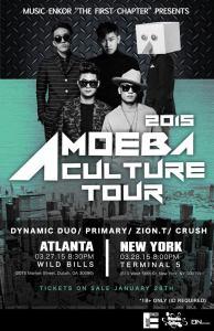 Amoeba Culture Tour 2015 Poster