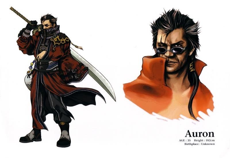Profile of Auron from Final Fantasy X