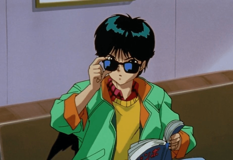 Yusuke from Yu Yu Hakusho feeling Gucci with those shades!