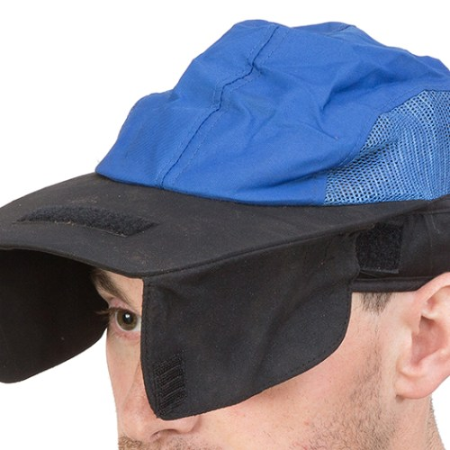 Centaur Model 16 shooting cap with side flaps - view with side flaps down