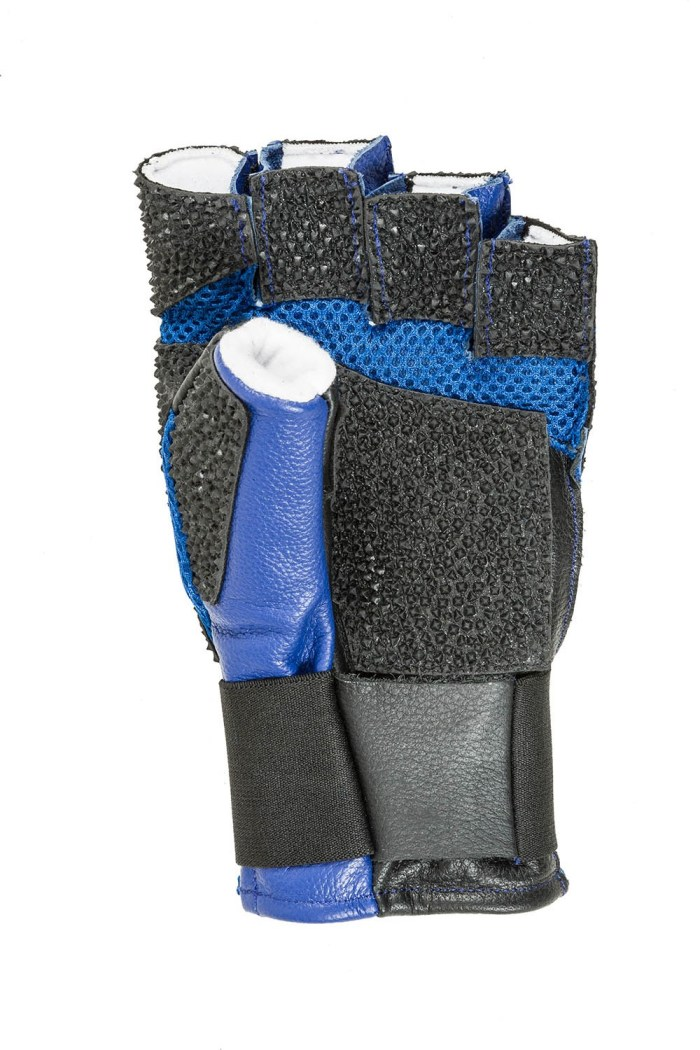 Centaur Match fingerless padded ventilated ISSF compliant target shooting glove - palm view - low resolution