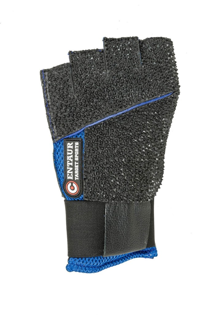Centaur Match fingerless padded ventilated ISSF compliant target shooting glove - back view - low resolution