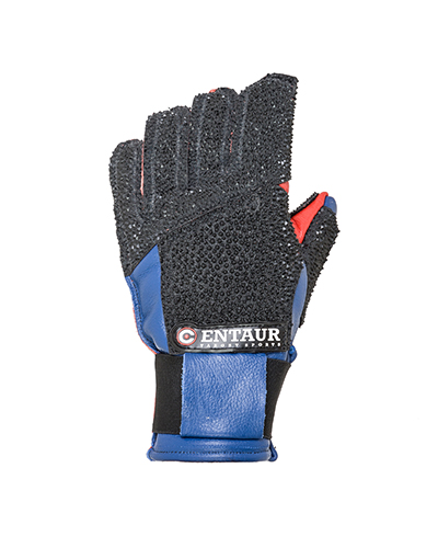 Centaur Standard F full finger padded target shooting glove - back view - low resolution