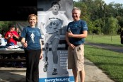 Janet and Paul Ainslie at Cedar Brook Park annual Terry Fox Run, September 2016. (Melissa Stephenson photo)