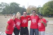 Anna Liscio (far left) and her team of co-workers at the Terry Fox Run in Toronto September 18, 2016. (Nicole Royle photo)