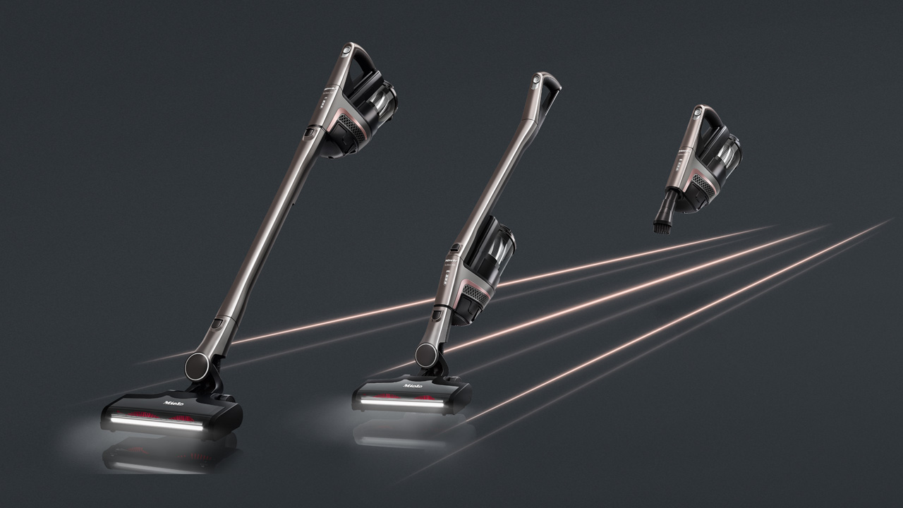 Triflex HX1 Pro cordless stick vacuum showing functions
