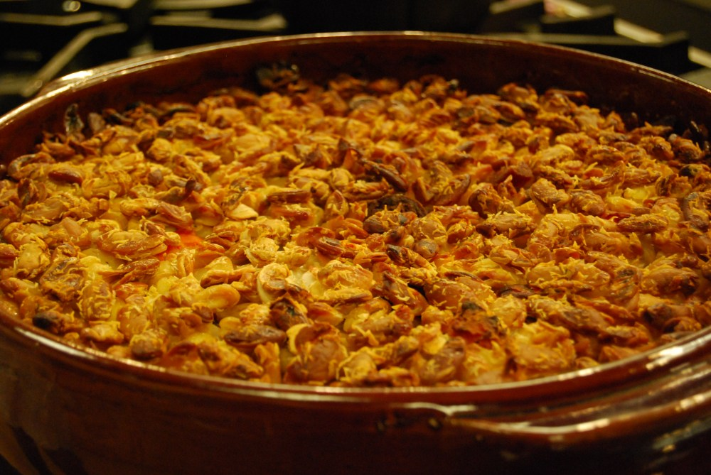 """This is the natural """"crust"""" that is formed on a cassoulet. No crumbs required."""