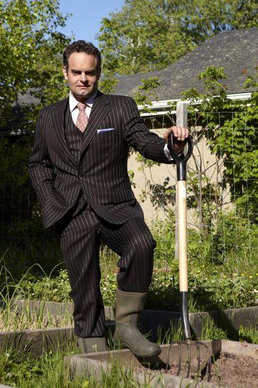 Peter Barrett in the Garden