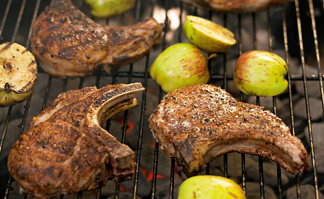 Recipe by Ray Lampe, Coffee Rubbed Pork Chops