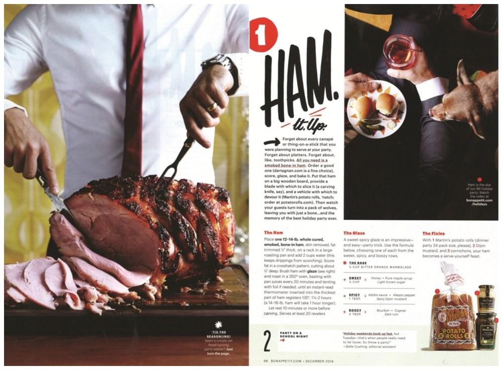 Bon Appetit Ham 2 Pages