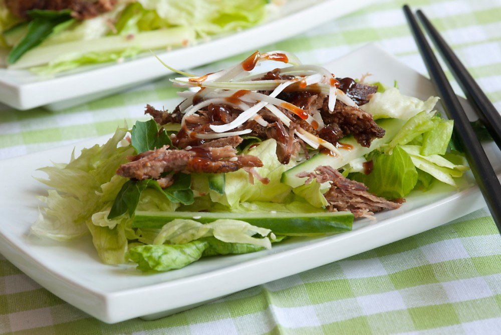 crispy-duck-salad-with-thai-chile-lime-dressing-recipe