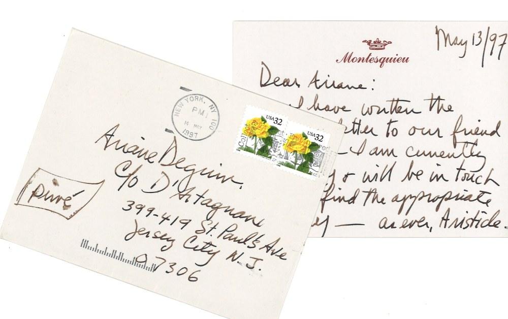 note-from-aristide-de-montesquieu-morley-safer