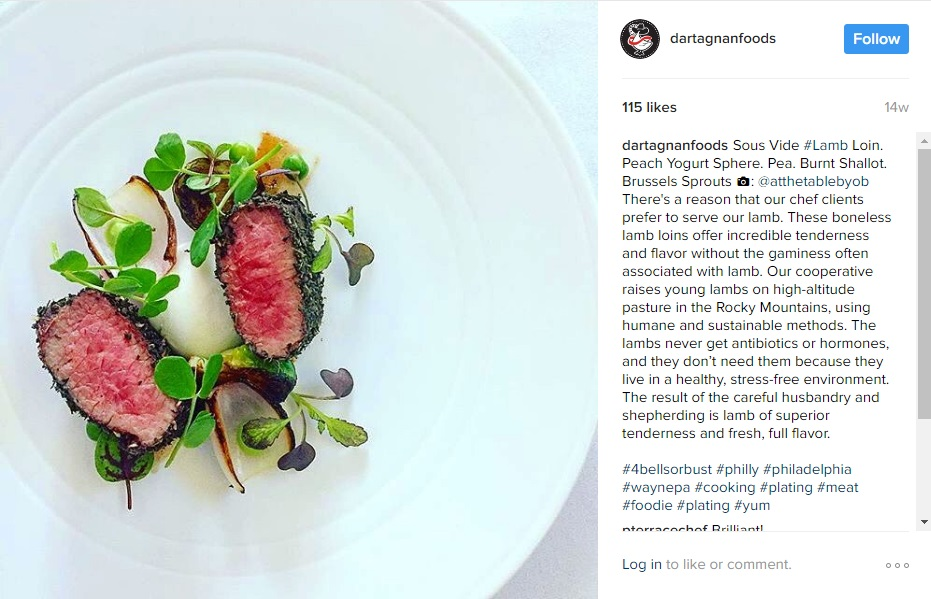 Lamb Instagram At the Table
