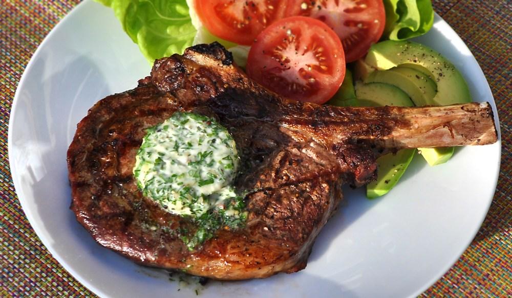 grilled-rib-eye-steak-with-garlic-herb-butter-recipe