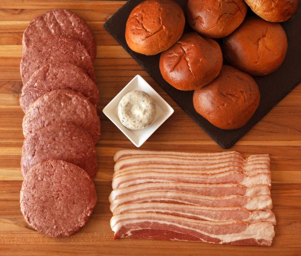 Bacon Burger Kit Raw Ingredients.JPG