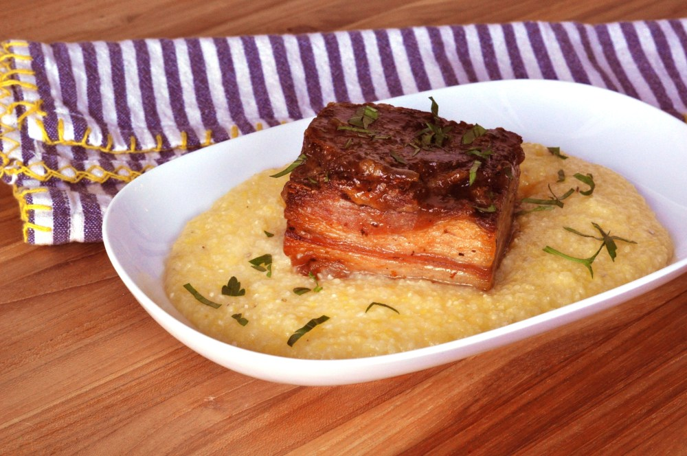 Lamb Belly with Polenta