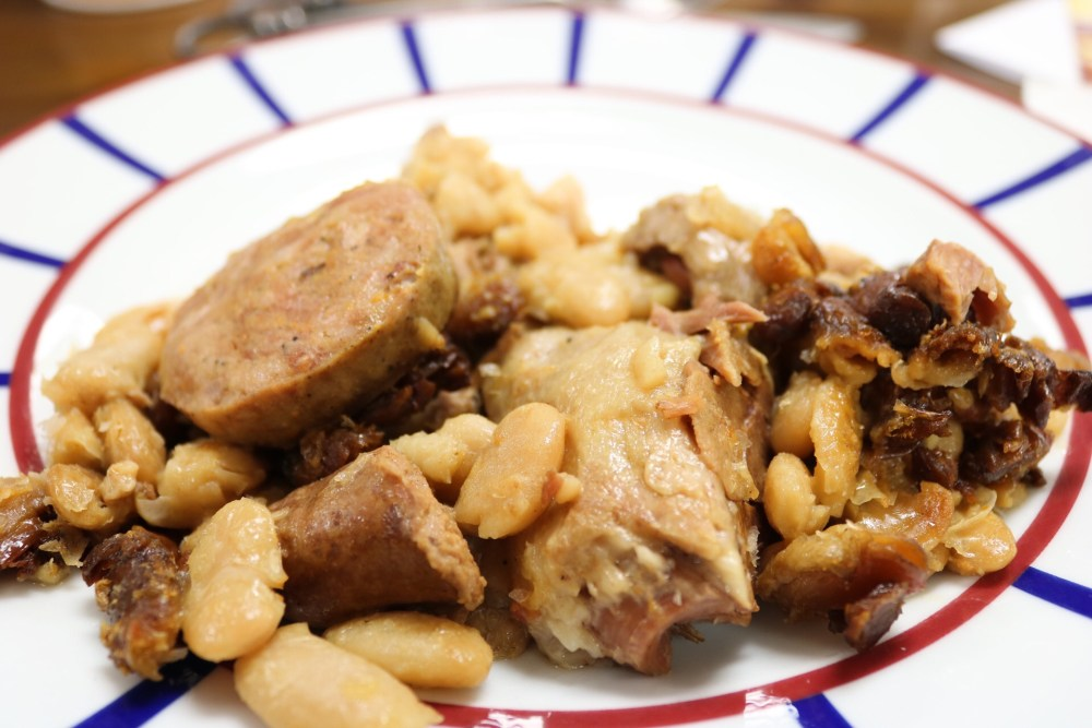 Les Marmitons Cassoulet on plate