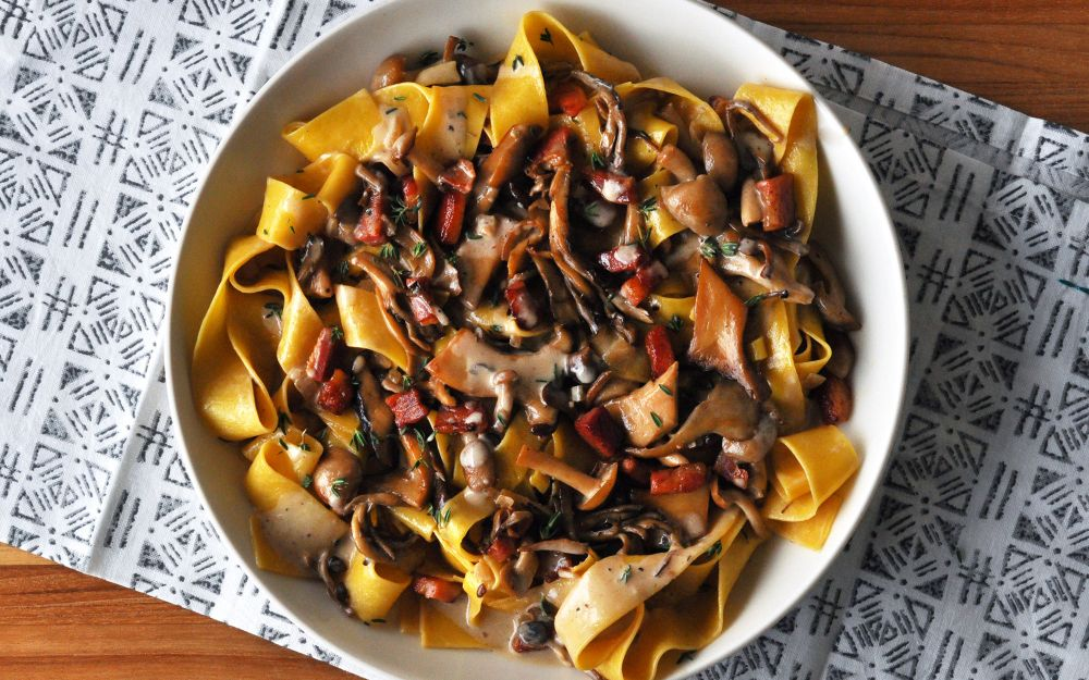 creamy-mushroom-pancetta-pasta-recipe