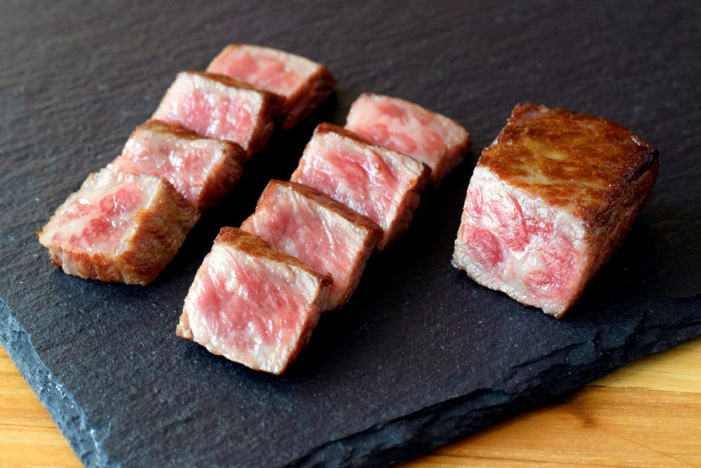 D'Artagnan Japanese A5 Wagyu Steak on Slate