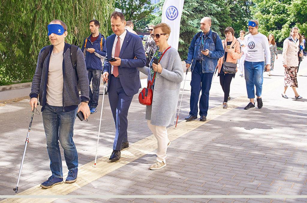 30 мая 2019 года состоялась презентация первого пешеходного маршрута для незрячих в городе Минске.